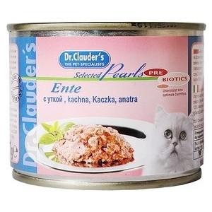 Купить консервы Dr.Clauder's Selected Pearls Pate Duck паштет с уткой для кошек 200г (660448) в Москве, в Спб и в России
