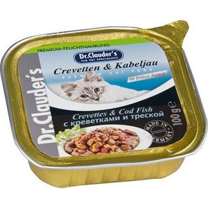 Консервы Dr.Clauder's Crevettes & Cod Fish in Sauce с креветками и треской кусочки в соусе для кошек 100г