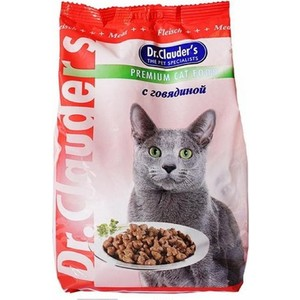 Сухой корм Dr.Clauder's с говядиной для кошек 15кг