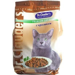 Сухой корм Dr.Clauder's с кроликом для кошек 15кг корма и питание