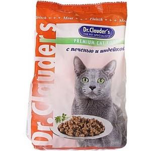 Сухой корм Dr.Clauder's с печенью и индейкой для кошек 15кг