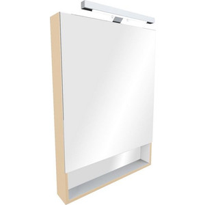 Зеркальный шкаф Roca Gap 60 бежевый (ZRU9302698) зеркало шкаф roca gap 60 белый zru9302748