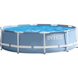 Бассейн каркасный Intex 28718/26718 Prism Frame 366х98см (фильтр-насос 2006 л/ч, лестница) intex насос ножной intex foot pump 3 л hcx788o
