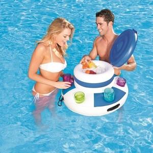 Плавающий термоконтейнер Bestway 43117 надувной для напитков, с 6 подстаканниками