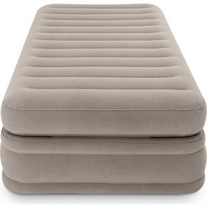Надувная кровать Intex 64444 Prime Comfort Elevated Airbed 99х191х51см, встроенный насос 220V кровать надувная односпальная intex prime comfort со встроенным насосом 220в 64444