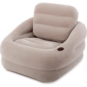 Надувное кресло Intex 68587 ''Accent Chair - Серое'' 97х107х71см с подстаканником