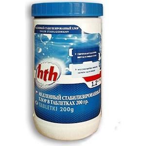 Медленный стабилизированный хлор HTH C800501H2 в таблетках по 200гр. 1,2кг