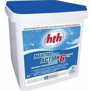 Двухслойная таблетка HTH K801795H1 быстрый и медленный хлор, 5кг