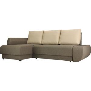 Фотография товара диван угловой SettySet НьюЙорк Евро Левый, коричневый (662215)