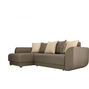 Диван угловой SettySet Мюнхен Евро Левый, коричневый диван угловой settyset дубай левый найс биттер