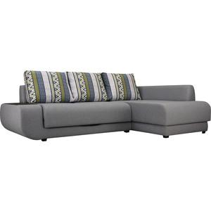 Купить диван угловой SettySet Нью-Йорк правый Этнос Серый (662221) в Москве, в Спб и в России