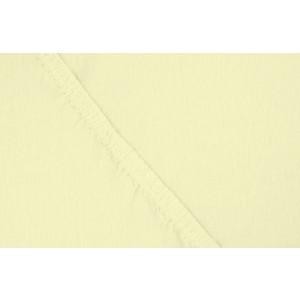 Простыня Ecotex трикотаж на резинке 140x200x20 см (ПРТ14 желтый)