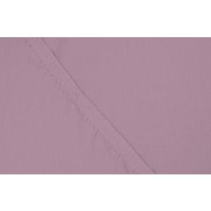 Простыня Ecotex трикотаж на резинке 140x200x20 см (ПРТ14 фиолетовый)