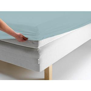 Простыня Ecotex трикотаж на резинке 160x200x20 см (ПРТ16 голубой)