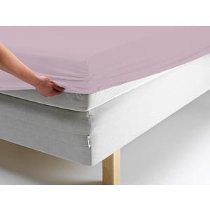 Простыня Ecotex трикотаж на резинке 160x200x20 см (ПРТ16 розовый)