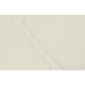 Простыня Ecotex трикотаж на резинке 180x200x20 см (ПРТ18 молочный)
