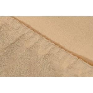 Фотография товара простыня Ecotex махровая на резинке 90х200х20 см (ПРМ09 бежевый) (662355)