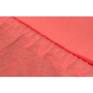 Простыня Ecotex махровая на резинке 90х200х20 см (ПРМ09 коралловый)