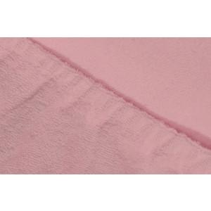 Простыня Ecotex махровая на резинке 90х200х20 см (ПРМ09 розовый)