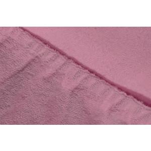Фотография товара простыня Ecotex махровая на резинке 90х200х20 см (ПРМ09 фиолетовый) (662363)