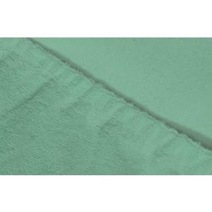 Фотография товара простыня Ecotex махровая на резинке 140х200х20 см (ПРМ14 ментоловый) (662367)