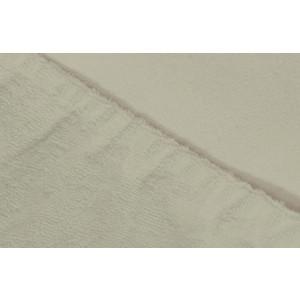 Простыня Ecotex махровая на резинке 90х200х20 см (ПРМ90 молочный)