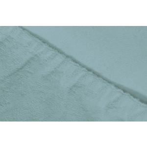 Простыня Ecotex махровая на резинке 160х200х20 см (ПРМ16 голубой)