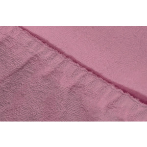 Фотография товара простыня Ecotex махровая на резинке 160х200х20 см (ПРМ16 фиолетовый) (662381)