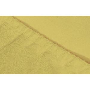 Простыня Ecotex махровая на резинке 180х200х20 см (ПРМ18 нежно-желтый )