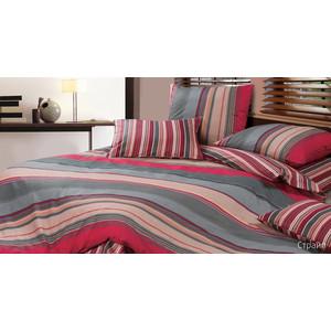 Комплект постельного белья Ecotex 1,5 сп, сатин, Страйп (КГ1Страйп) комплект постельного белья ecotex 2 х сп сатин коломбо кгмколомбо