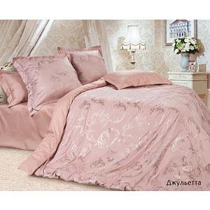 Комплект постельного белья Ecotex Евро, сатин-жаккард, Джульетта (КЭЕДжульетта) комплект постельного белья ecotex евро сатин жаккард мерседес кэечмерседес