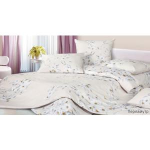 Комплект постельного белья Ecotex Евро, сатин, Перламутр (КГЕПерламутр)