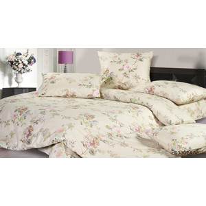 Комплект постельного белья Ecotex 2-х сп, сатин, Розабелла (КГМРозабелла) комплект постельного белья ecotex 2 х сп сатин жаккард джульетта кэмджульетта