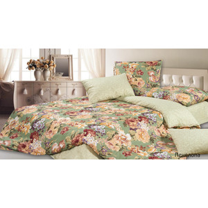 Комплект постельного белья Ecotex 1,5 сп, сатин, Пенелопа (КГ1Пенелопа) комплект постельного белья ecotex 2 х сп сатин кардинал кгмкардинал