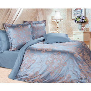 Комплект постельного белья Ecotex 2-х сп, сатин-жаккард, Борнео (КЭМБорнео) комплект постельного белья ecotex 2 х сп сатин кардинал кгмкардинал