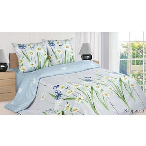 Комплект постельного белья Ecotex 1,5 сп, поплин, Кларисса (КП1Кларисса) комплект постельного белья ecotex 2 х сп поплин портленд кпмпортленд