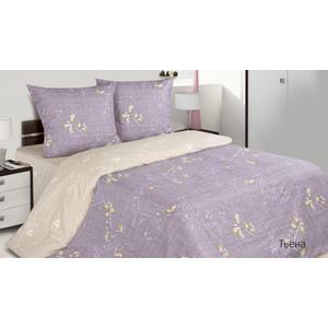 Комплект постельного белья Ecotex 1,5 сп, поплин, Тьена (КП1Тьена)