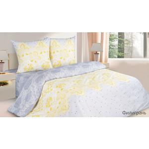 Комплект постельного белья Ecotex 1,5 сп, поплин, Филигрань (КП1Филигрань) комплект постельного белья ecotex 2 х сп сатин сюссан кгмсюссан