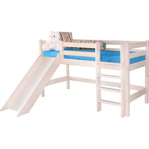 Детская кровать Мебельград Соня с прямой лестницей и горкой, вариант 13