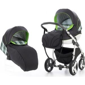 Коляска 2 в 1 Tutis New Mimi Plus Графит/серая клетка/зеленый 502473