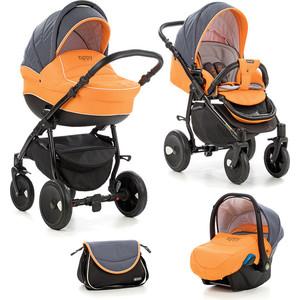Коляска 3 в 1 Tutis Zippy Orbit антрацит/оранжевый/белый кант 533055 adamex коляска 2 в 1 barletta adamex лисёнок белый оранжевый