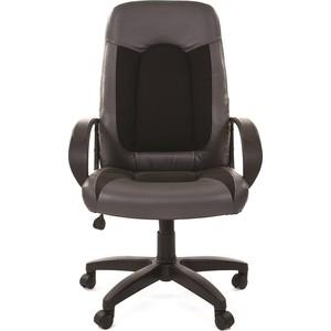 Офисное кресло Chairman 429 экопремиум серый+ткань 10-356 черная офисное кресло chairman 429 экопремиум серый ткань 10 356 черная