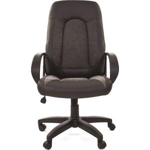 Офисное кресло Chairman 429 экопремиум черный+ткань 20-23 серая офисное кресло chairman 429 экопремиум серый ткань 10 356 черная