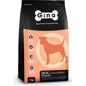 Сухой корм Gina Denmark DOG Salmon & Rice с лососем и рисом для взрослых собак 3кг (400116.1) корм сухой happy dog новая зеландия для собак мелких пород ягненок с рисом 4 кг