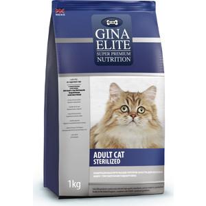 Сухой корм Gina Elite Adult CAT Sterilized с птицей и рисом для стерилизованных кошек 15кг (780015.2) сухой корм gina denmark cat 33 с курицей ягненком и рисом для взрослых активных и выставочных кошек 18кг 080020 3