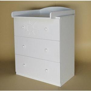 Островок уюта Комод детский Ля-Мур съемный пеленальный стол (белый)