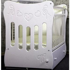 Островок уюта Кровать детская Бантики (айвори) маятник поперечный с ящиком