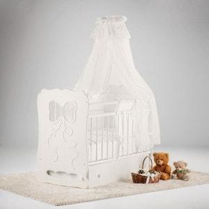 Купить островок уюта Кровать детская Мальвина (айвори) маятник поперечный с ящиком (663369) в Москве, в Спб и в России