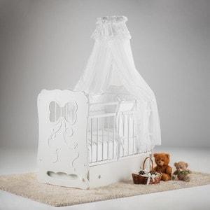 Фотография товара островок уюта Кровать детская Мальвина (белый) маятник поперечный с ящиком (663370)