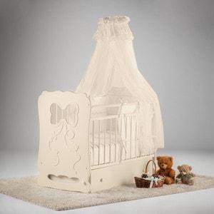 Фотография товара островок уюта Кровать детская Мальвина (слоновая кость) маятник поперечный с ящиком (663371)